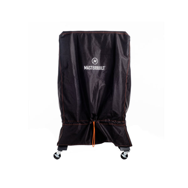 Black cover with orange thread highlight Digital Charcoal Smoker Cover