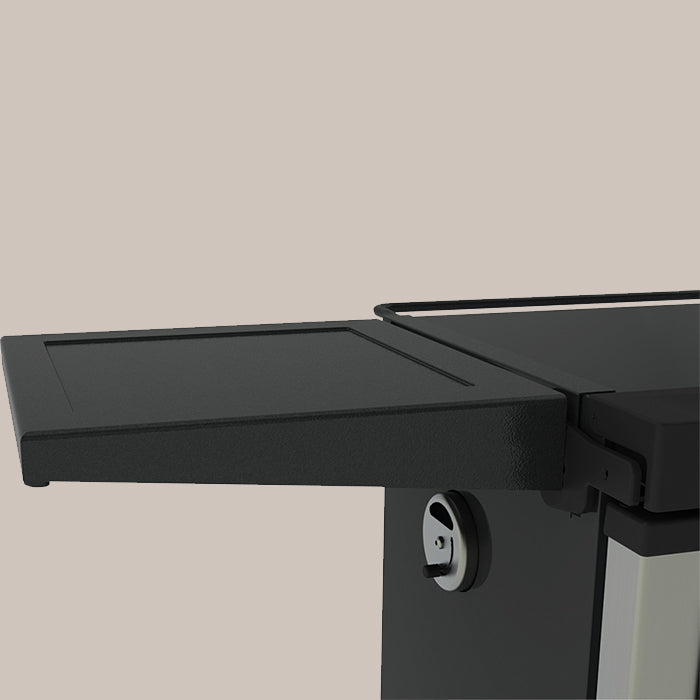 Smoke shelf for digital electric smokers with control panel on the front