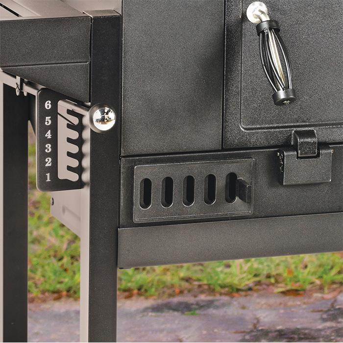 30 in black charcoal grill grate adjustment and air flow vents