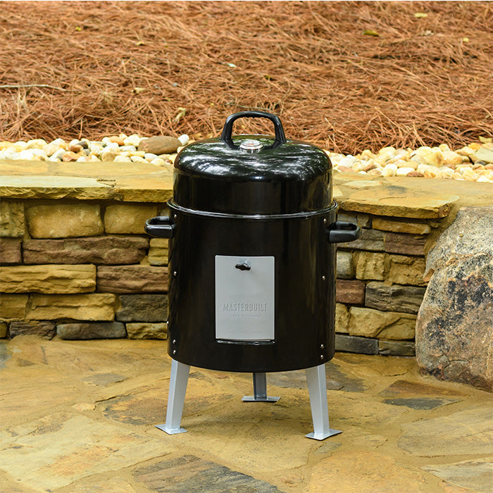 Masterbuilt Charcoal Bullet Smoker at home on the patio
