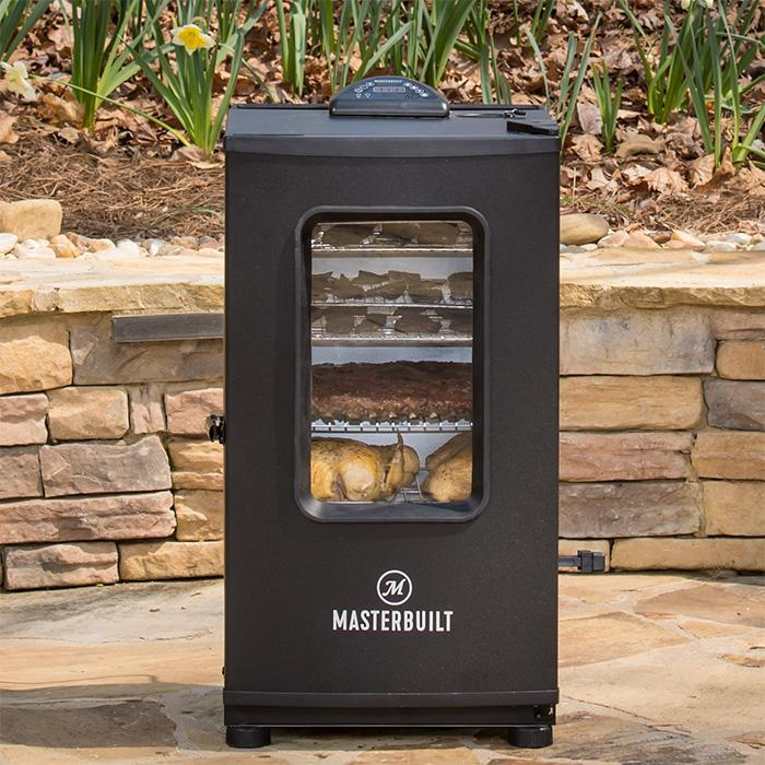 Smoking out on the patio with the Masterbuilt Adventure Series 40-inch Digital Electric Smoker