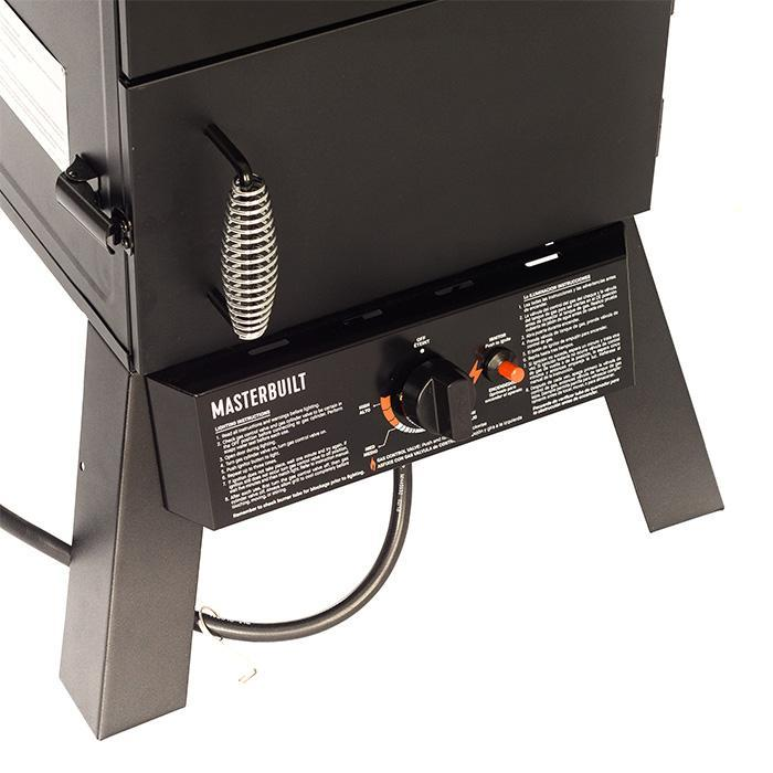 Masterbuilt Pro Series Dual Fuel Smoker in Black temperature control panel image