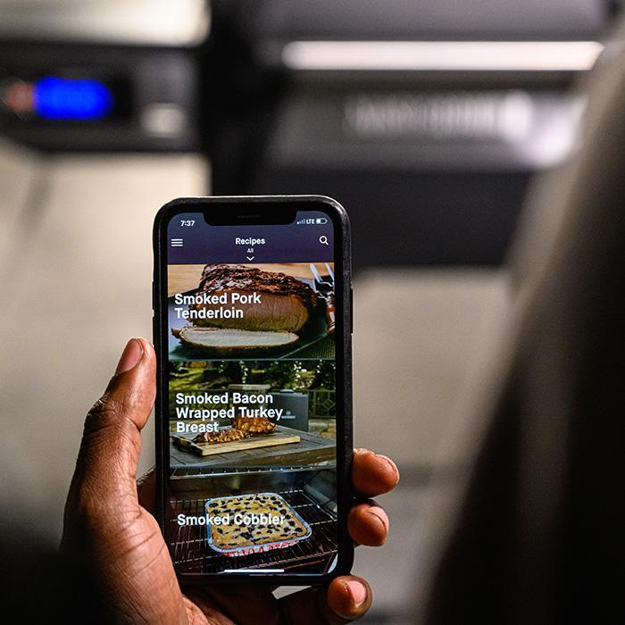 Masterbuilt App upclose with Recipes