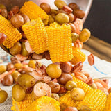 Scroll to product image Pouring out a low country boil