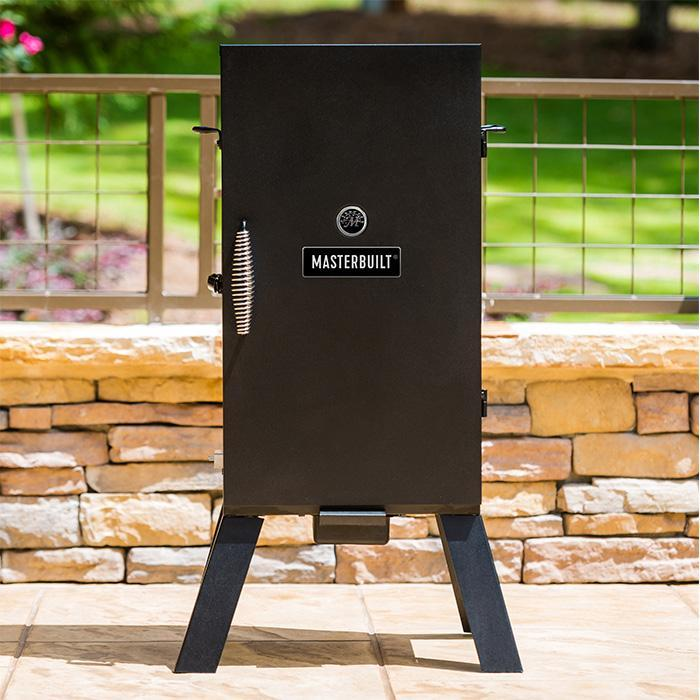 "30"" Masterbuilt Analog Electric Smoker at home on the patio"