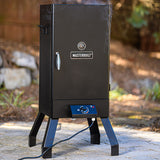 Scroll to product image Smoking on the patio with the Masterbuilt Analog Electric Smoker