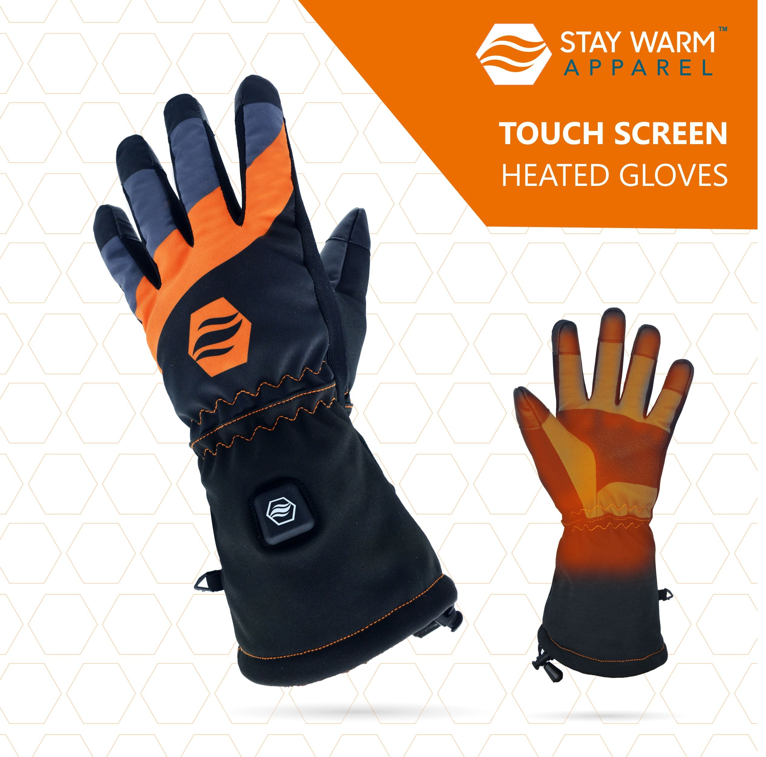 12V Touchscreen & Long Lasting Heated Gloves