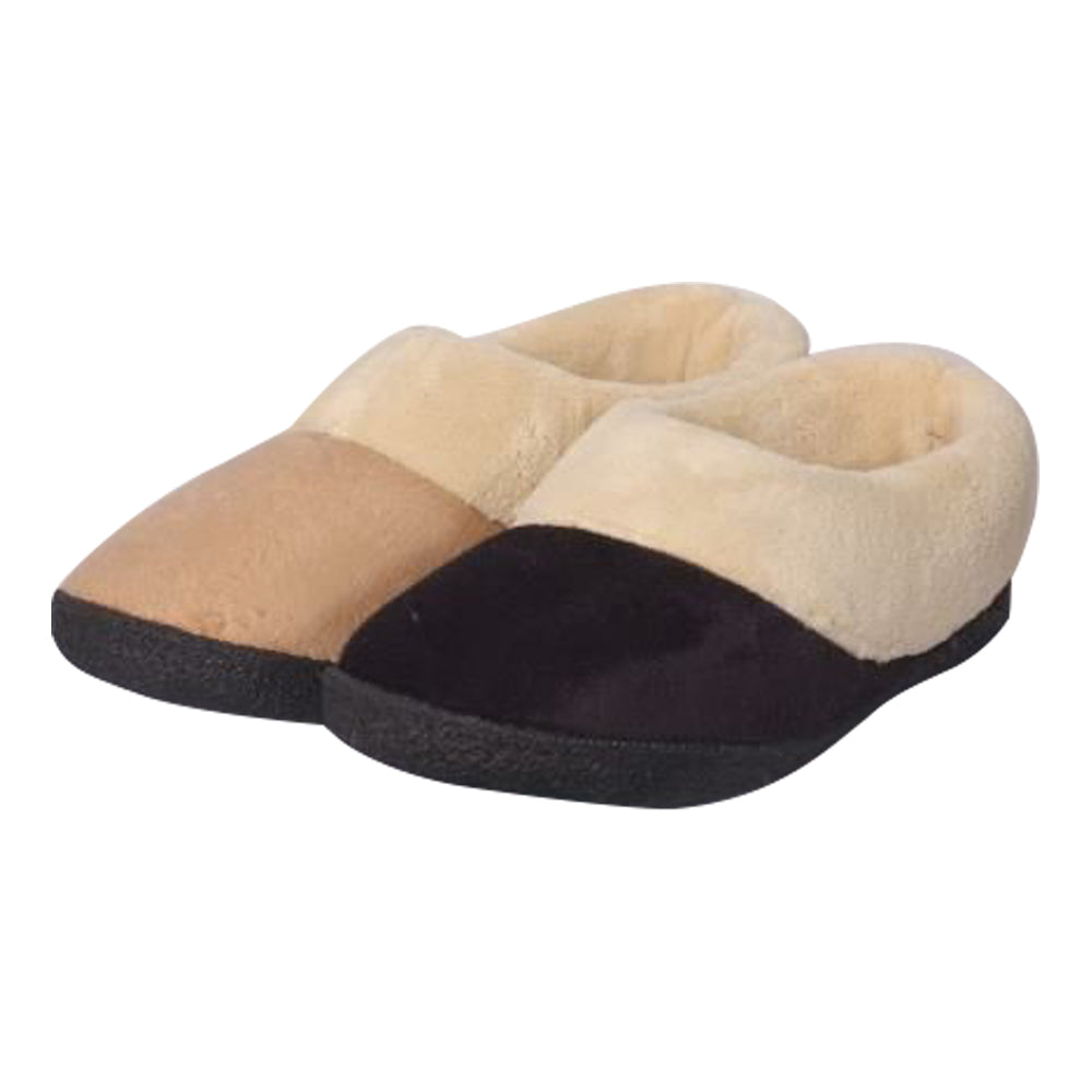 Memory Foam Heated Slipper With Rechargeable Battery - Black