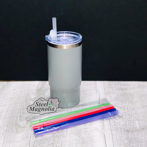 "5 pack 8"" CLEAR Straws"