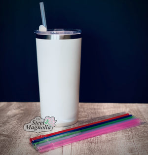 "5 pack 9"" CLEAR Straws"