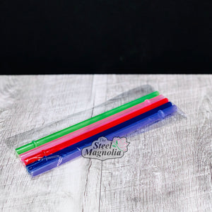 "5 pack 8"" COLOR Straws"