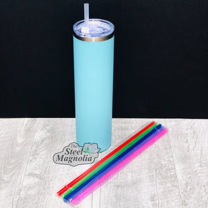 "5 pack 12"" CLEAR Straws"
