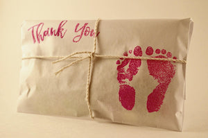 25 Embossed Girl Baby Shower Favors. Fresh Roasted Coffee.
