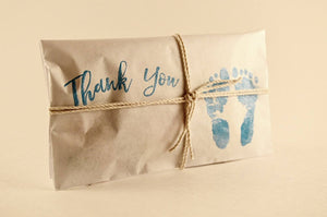 25 Embossed Baby Shower Favors. Fresh Roasted Coffee.