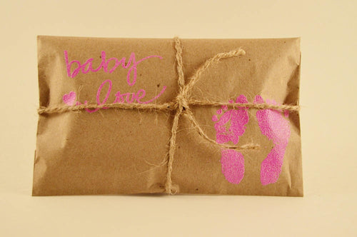 10 Baby Shower Favors. Fresh Roasted Coffee. Embossed Favors. Baby Love