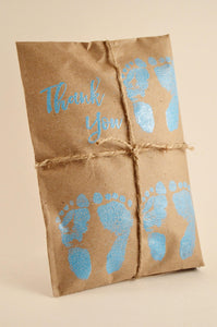 10 Triplet Baby Shower Favors. Fresh Roasted Coffee Favors. Embossed Favors. Handmade