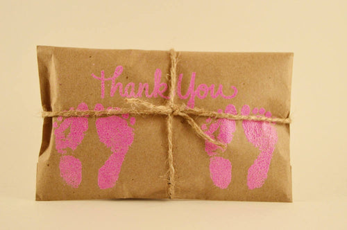 10 Twin Shower Favors. Fresh Roasted Coffee Embossed Favors. Handmade
