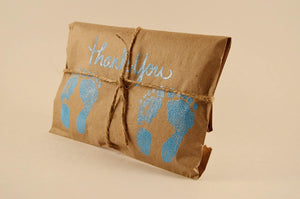 10 Twin Shower Favors. Fresh Roasted Coffee. Embossed Favors. Handmade.