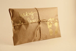 10 Baby Shower Favors. Fresh Roasted Coffee. Embossed Favors. Handmade. Baby Love