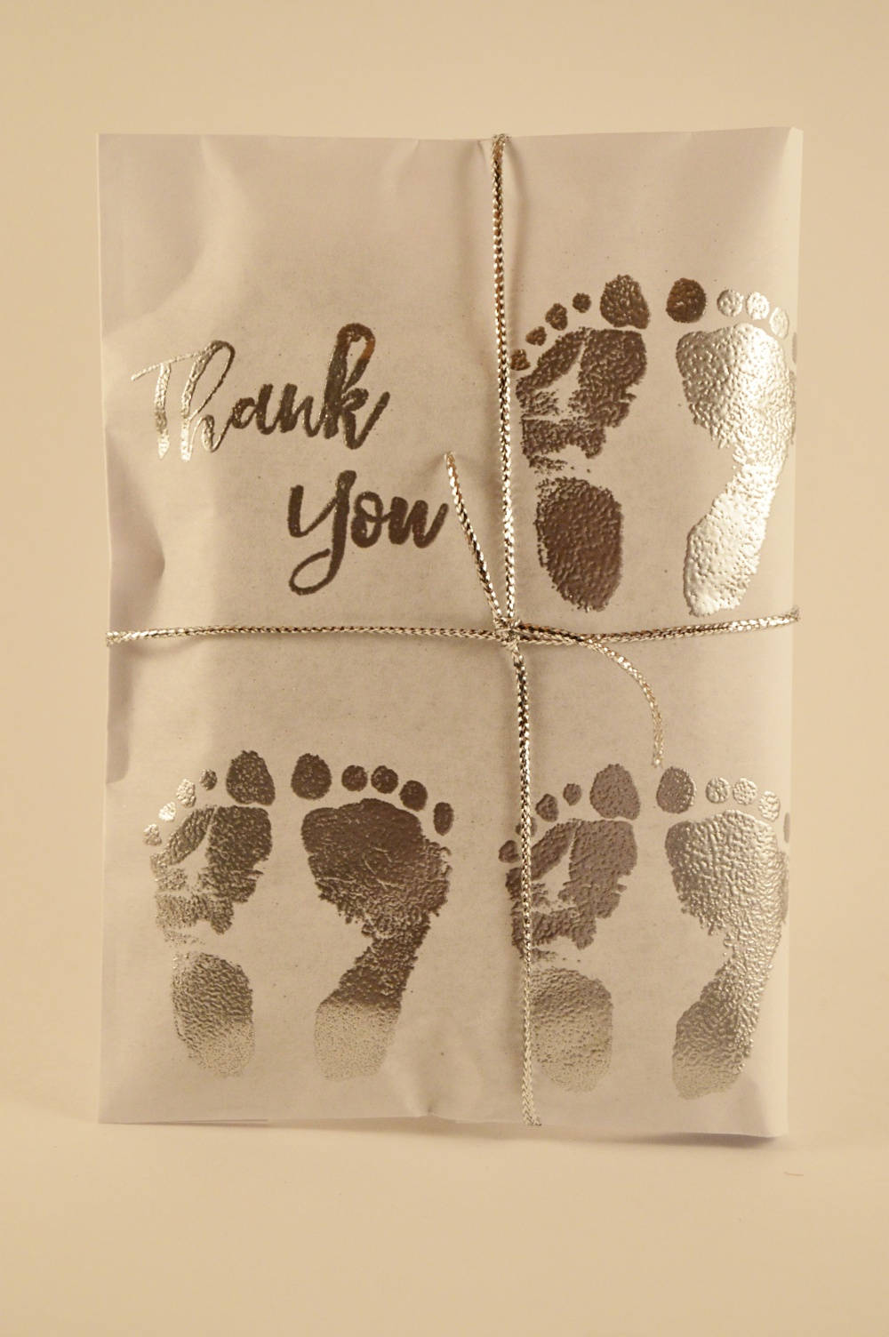 25 Triplet Baby Shower Favors. Silver and White Paper Favors. Fresh Roasted Coffee