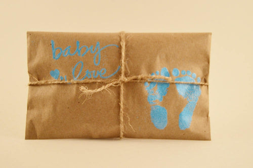 10 Baby Shower Favors. Fresh Roasted Coffee. Embossed. Handmade. Baby Love