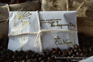 Thanksgiving Favors for Guests. Coffee Gifts. Rustic Table Decor. Set of 10