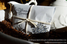 Load image into Gallery viewer, Stocking Stuffers/Coffee Favors. Set of 20. Gold Embossed. Handmade. Fresh Roasted Coffee