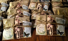 Load image into Gallery viewer, 50 Rustic Ephemera Favors. Bridal Shower. Engagement Party. Freshly Roasted Coffee.