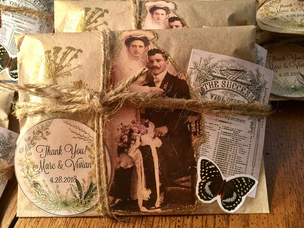 50 Rustic Ephemera Favors. Bridal Shower. Engagement Party. Freshly Roasted Coffee.