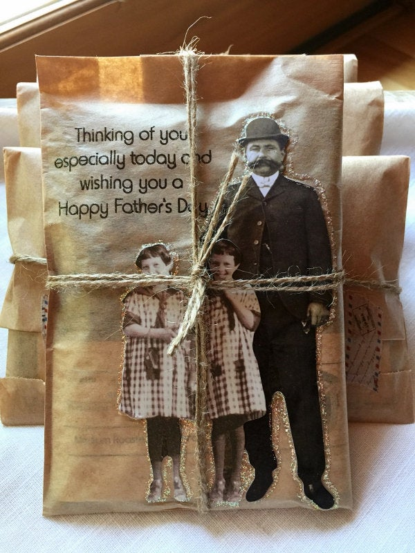 Father's Day Coffee Card. Coffee Greeting Card. Fresh Roasted Coffee. Handmade Father's Day Gift