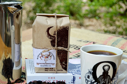 Trading Post French Roast: 12oz. Organic. Fresh Roasted. Coffee Honduran. French Roast.