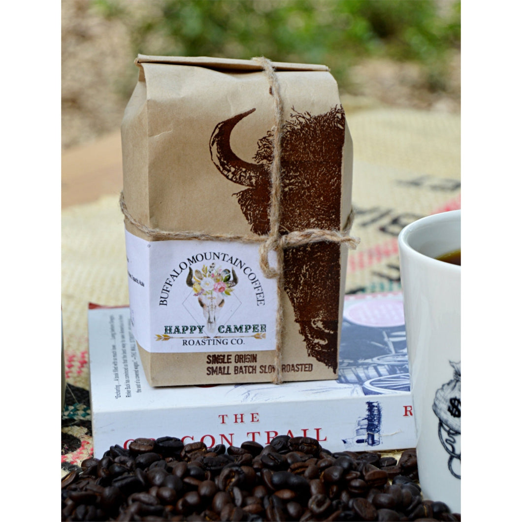 Happy Camper: 12oz. Brazilian Coffee Beans. Fresh Roasted Coffee Beans. Medium Roast
