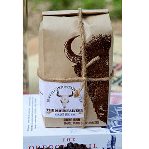 The Mountaineer: 12oz. Freshly Roasted Coffee beans. Dark Roast. Brazilian Coffee
