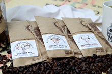 Load image into Gallery viewer, Trio Coffee Sampler, Unique Coffee Gifts, Peruvian Coffee, Brazilian Coffee