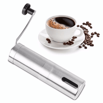 Hand-Held Stainless Steel Coffee Grinder