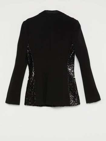 Black Sequin Baroque Blazer