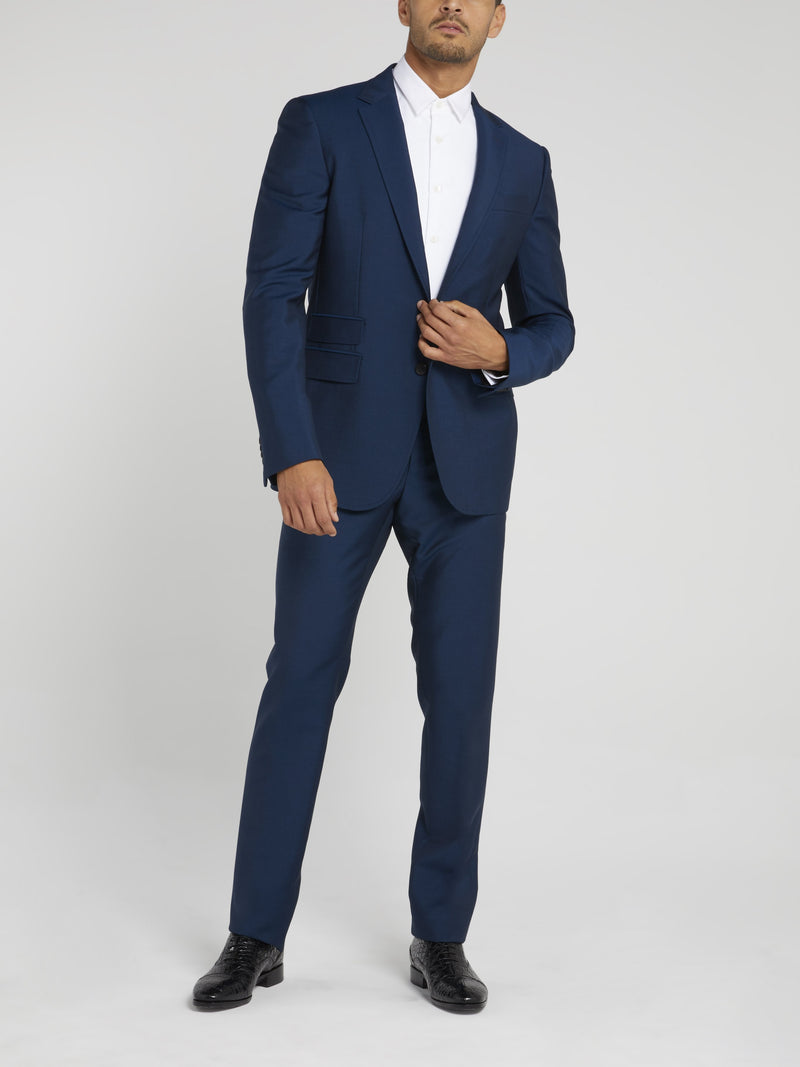 Navy Classic Structured Suit