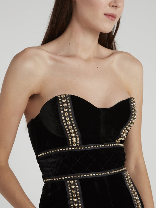 Rolsa Black Studded Tube Dress