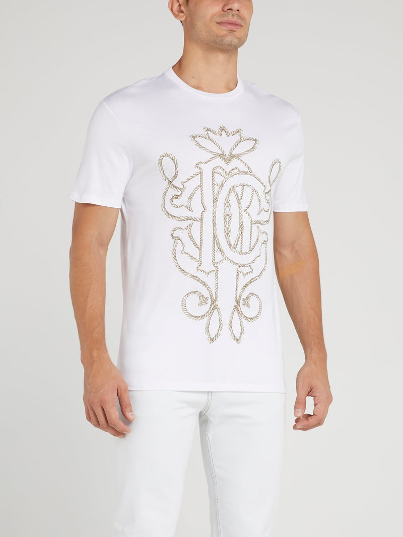 White Rope Logo Print T-Shirt