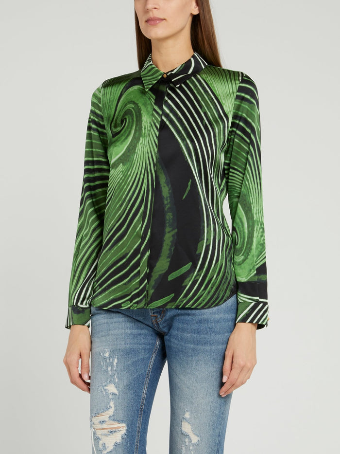 Green Thumb Print Shirt