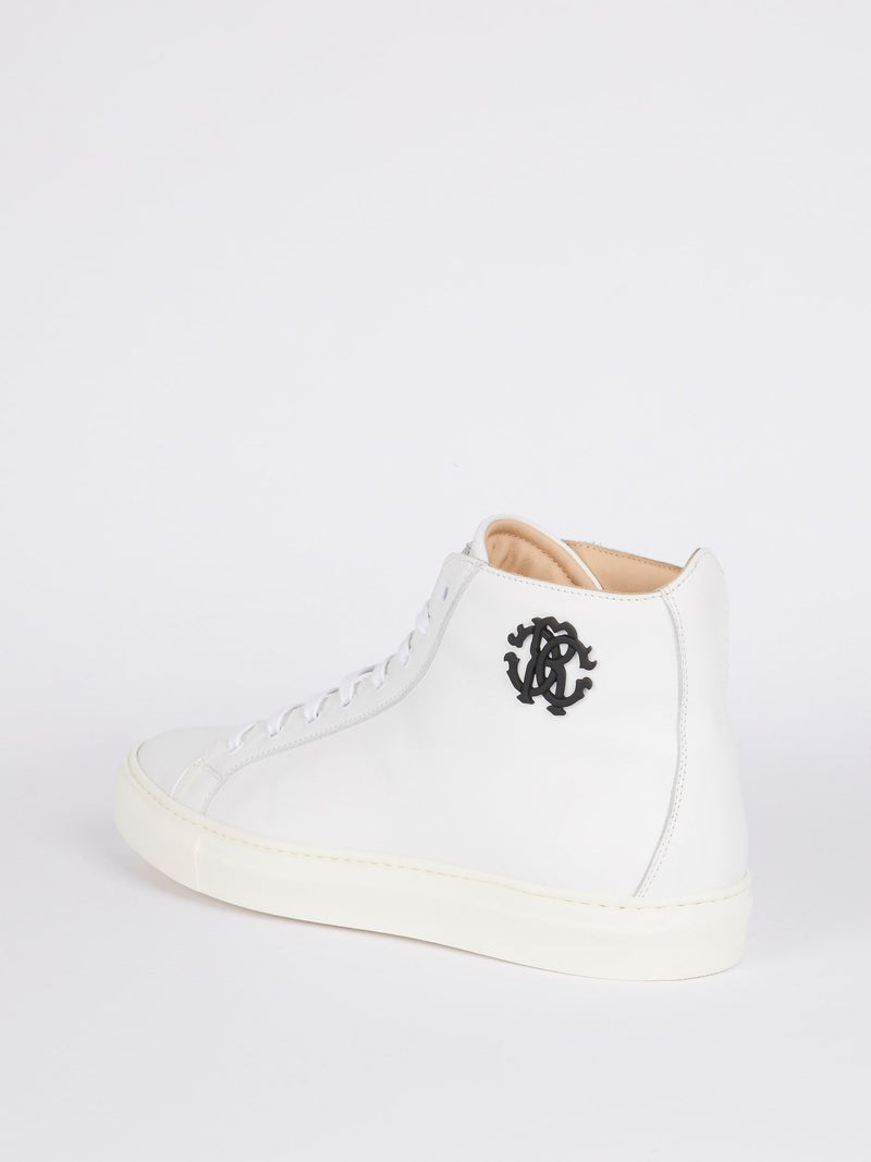 White High Top Monogram Sneakers