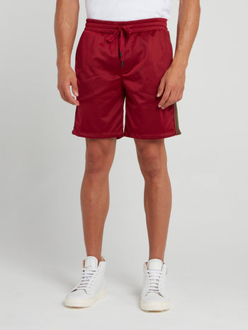Red Side Stripe Active Shorts