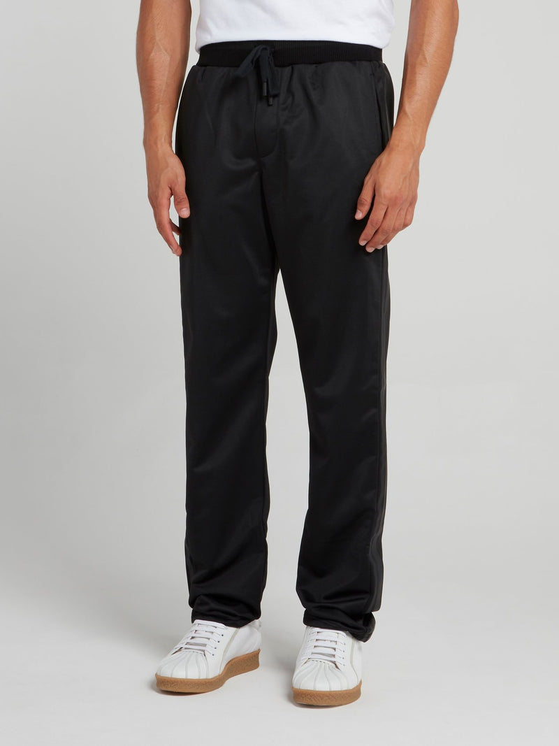 Black Side Stripe Active Trousers