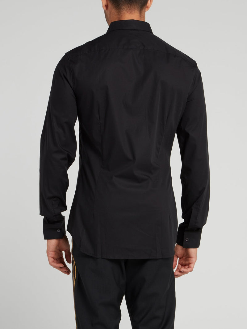 Black Snake Embroidered Shirt