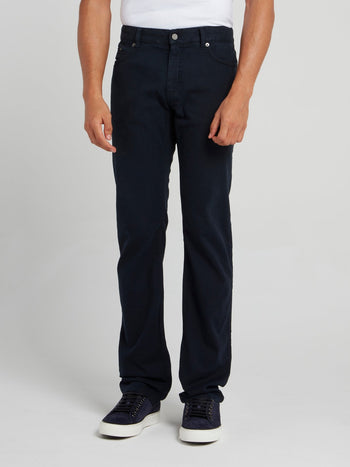 Navy Straight Cut Jeans