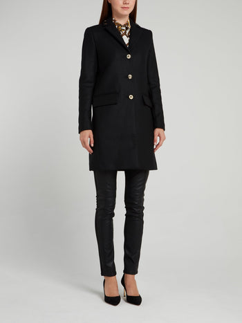 Black Embellished Long Coat