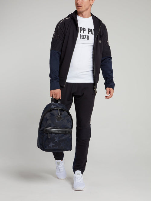 Navy Distressed Jogging Trousers