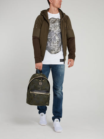 Olive Distressed Jogging Jacket