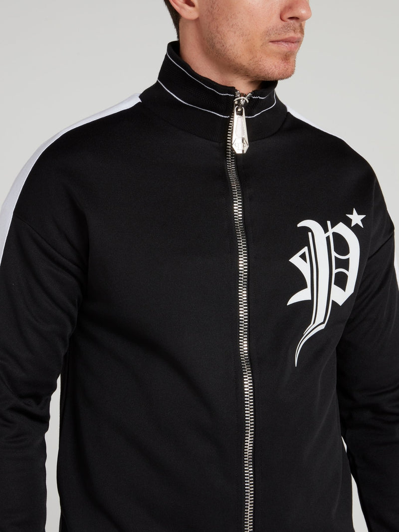 Black Statement Jogging Jacket