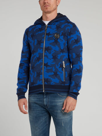 Blue Camo Stars Knit Jacket